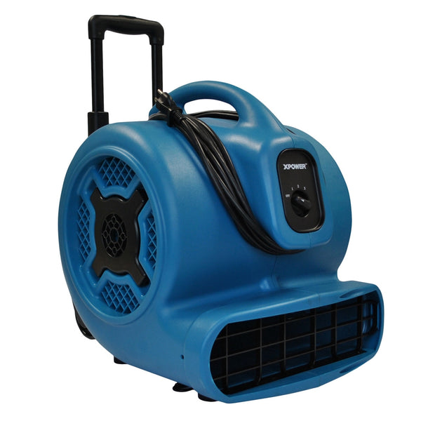 XPOWER X-830H 1HP Air Mover w/ Telescopic Handle & Wheels