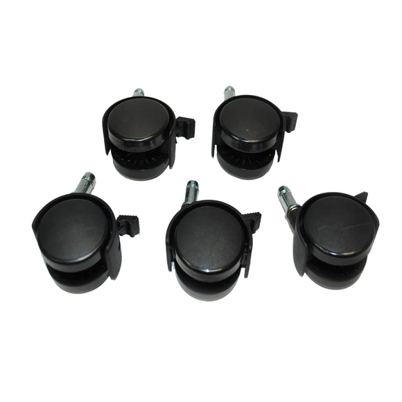 Wheels with Lock for XPOWER B-16 Stand Dryer - 1 Set with 5 Pieces