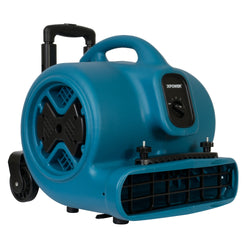 XPOWER P-630HC 1/2 HP Air Mover w/ Telescopic Handle & Wheels & Carpet Clamp - Air Mover - XPOWER