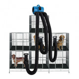 XPOWER X-800TF-MDK Professional Pet Grooming Cage Dryer with Multi Drying Hose Kit (800 MDK)