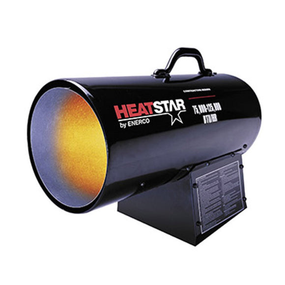 HeatStar 75000-125000 BTU Contractor Series Propane Forced Air Heater HS125FAV (F170125) - Heater - HeatStar