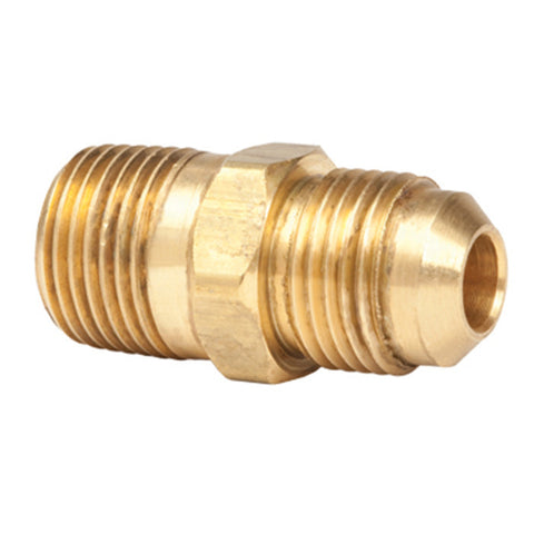3/8in Male Pipe Thread x 3/8in Male Flare Brass Fitting