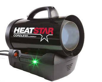 HeatStar HS35CLP Cordless Forced Air Propane Heater, 35,000 BTU/Hr. - LionCove