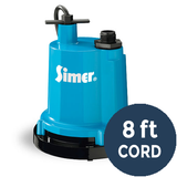 "Simer Pump-2300 1/4 HP Electric Motor, 1 1/4"" NPT discharge, 1320 GPH, 8 ft. cord - Pump - Simer"