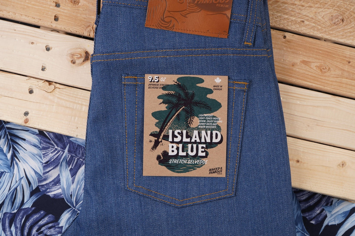 Island Blue Stretch Selvedge