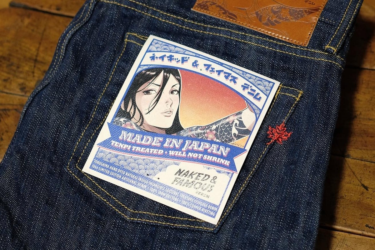 MIJ8 – Tokushima Natural Indigo Hand Dyed Intangible Cultural Treasure Selvedge Denim