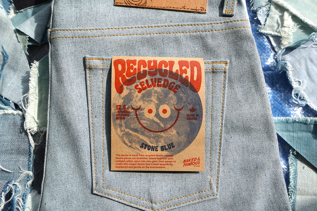 Recycled Selvedge - Stone Blue