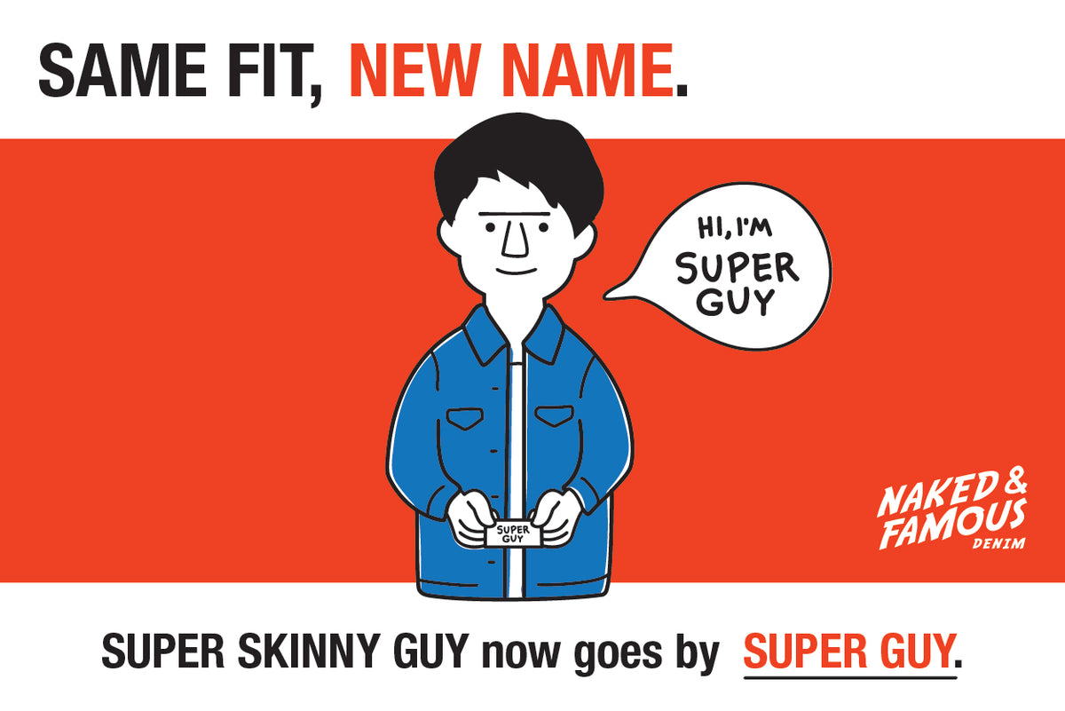 Super Skinny Guy now goes by Super Guy.