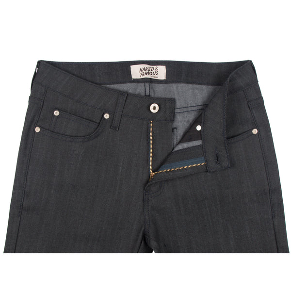Naked & Famous Denim - Indigo Power Stretch with Grey Fill