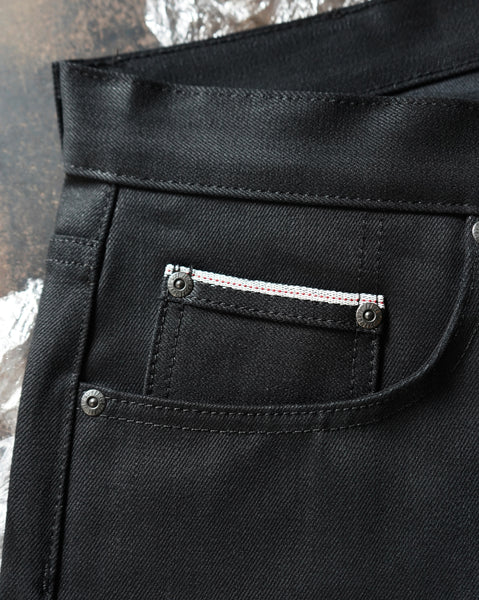 Black Cobra Stretch Selvedge Coin Pocket