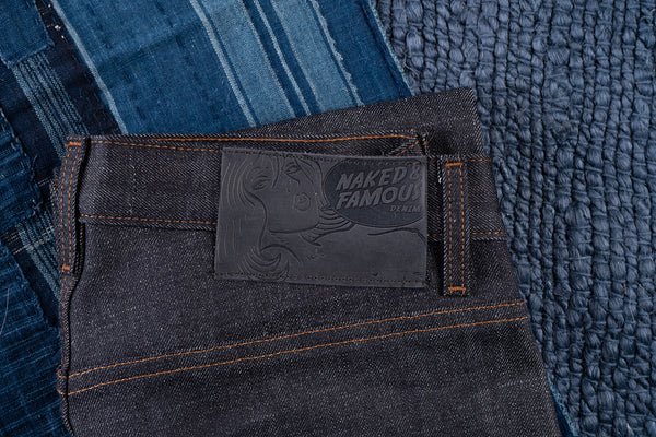 Blue Core Selvedge - Leather Patch