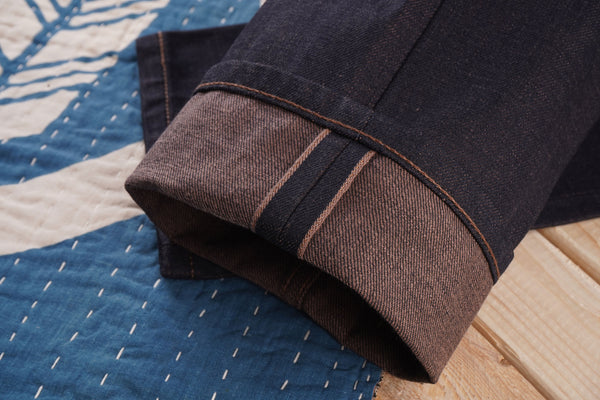 Chestnut Dyed Selvedge Weft