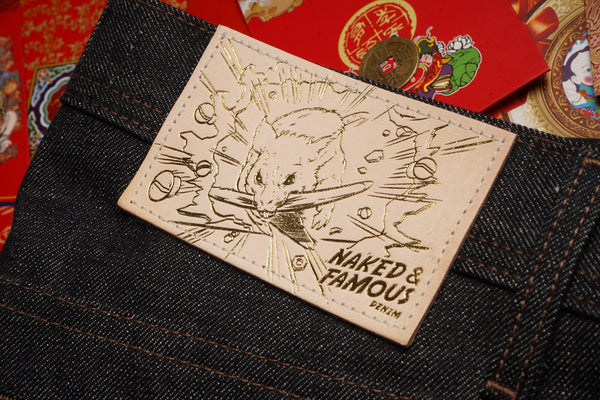 Chinese New Year Metal Rat - Leather Patch