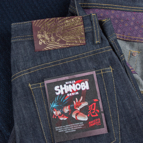NAKED & FAMOUS DENIM  Weird Guy - 16.5oz Unsanforized Ninja Shinobi Selvedge