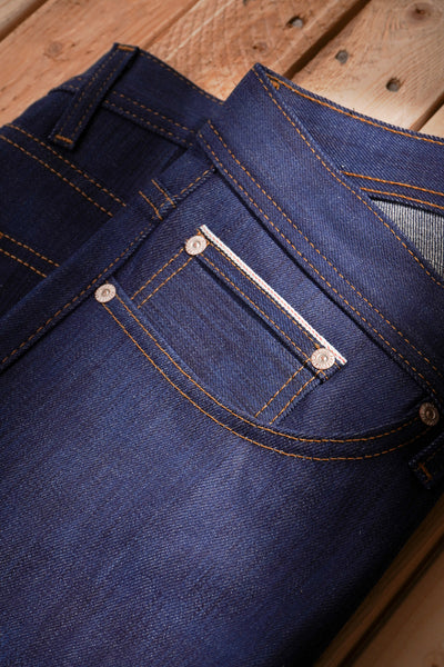 Kasuri Stretch Selvedge - Coin Pocket