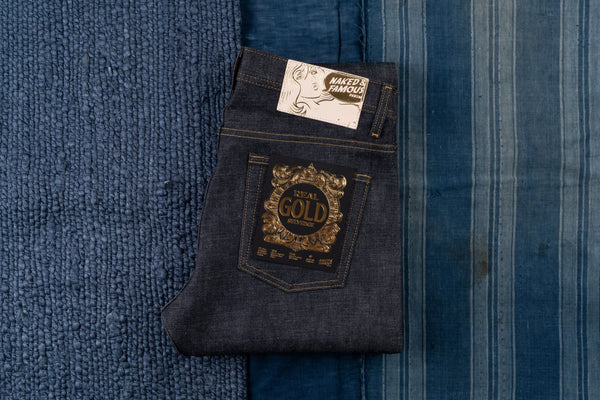Real Gold Selvedge - Folded Flat