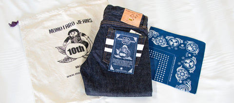 Momotaro 10th anniversary selvedge denim