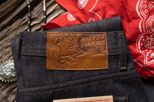 True Grit Selvedge - Hair On Leather Patch