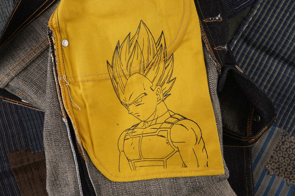 Vegeta Super Saiyan Selvedge - Pocket Bag