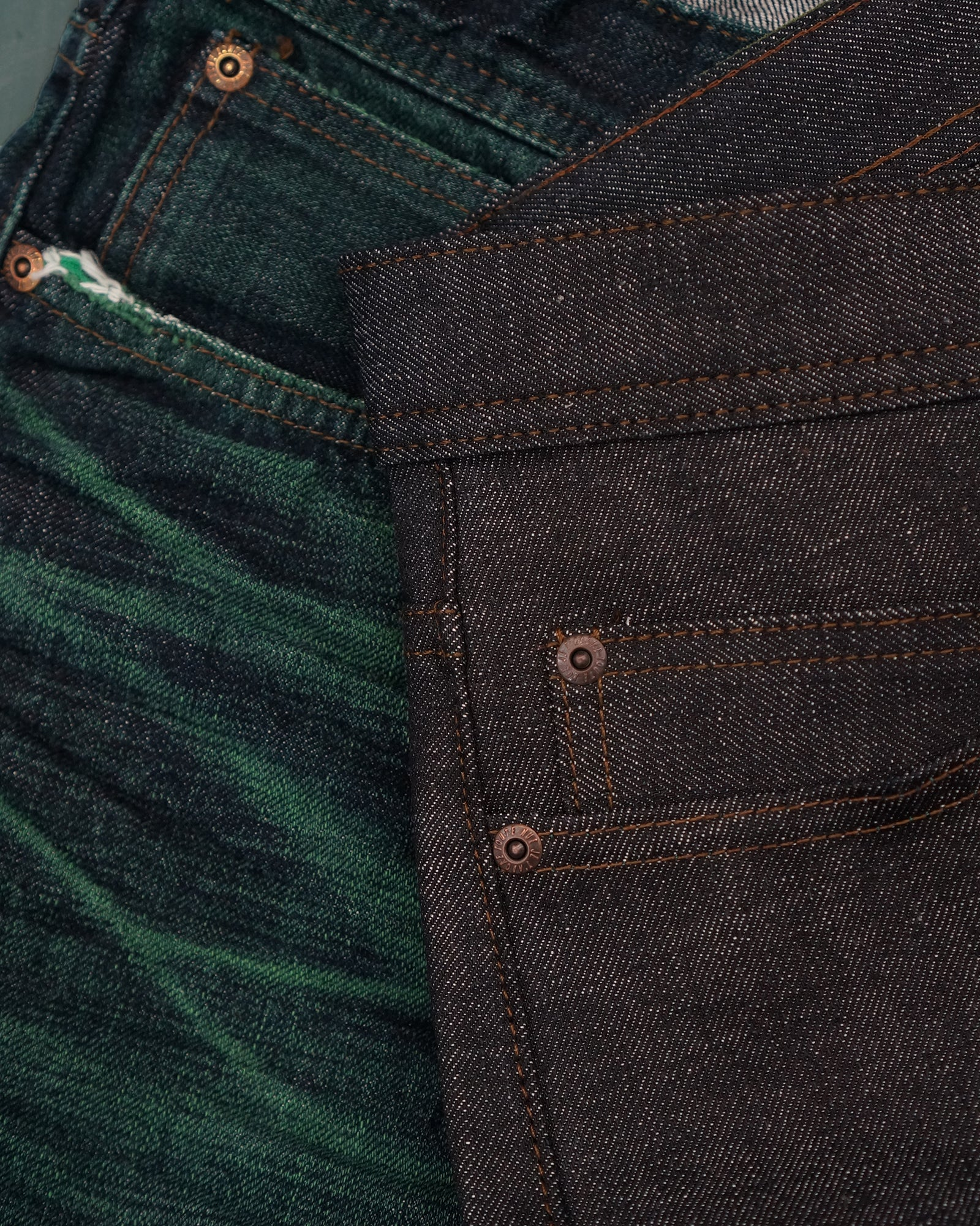 Faded Green Core Selvedge by Naked & Famous Denim