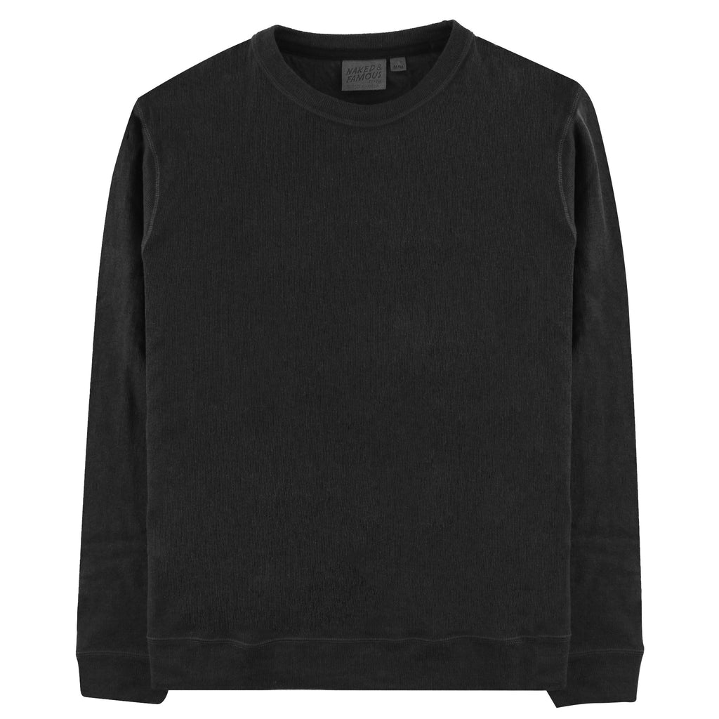Cotton Crew Neck Sweater by Naked & Famous Denim