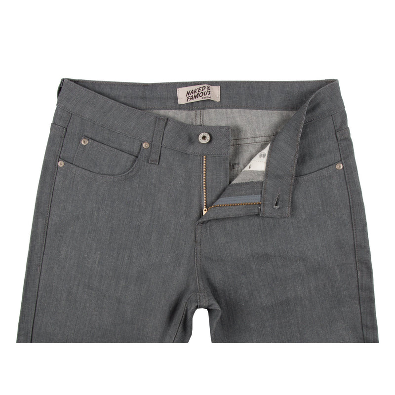 Grey Stretch Jeans by Naked & Famous Denim