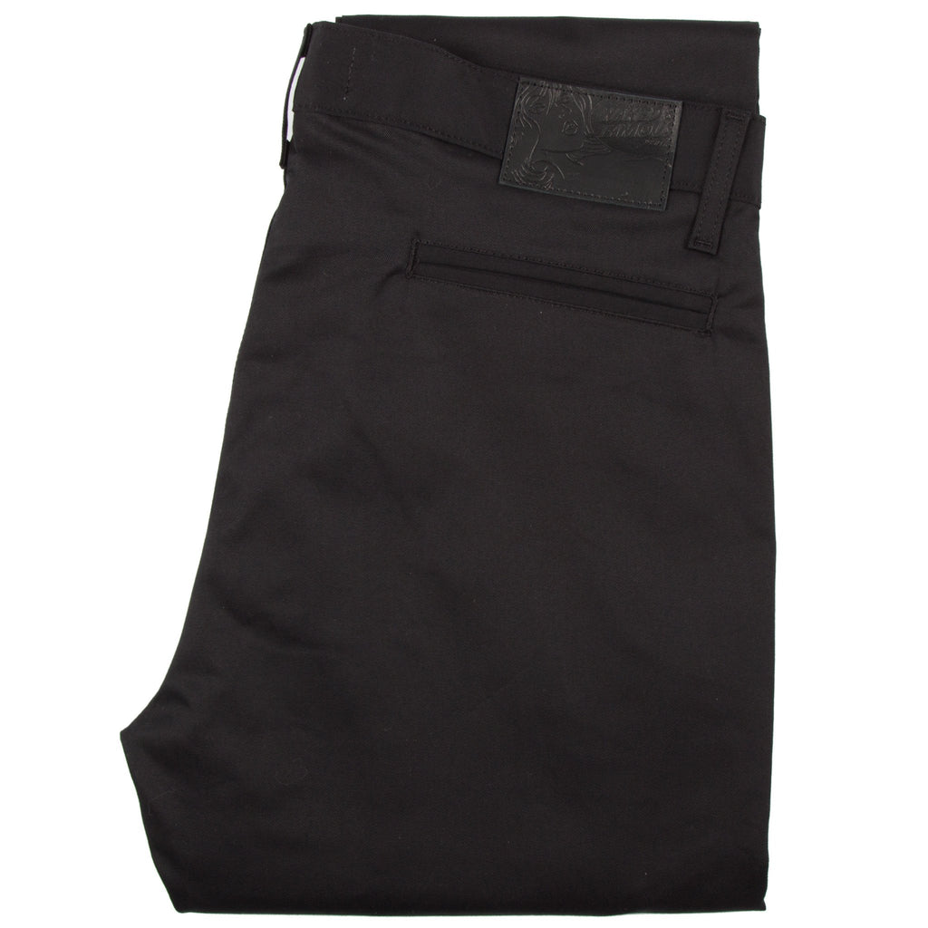 Slim Chino – Black Stretch Twill