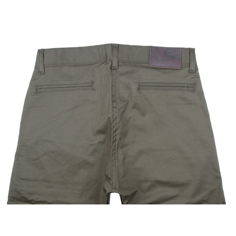 Slim Chino - Khaki Green Stretch Twill Media 3 of 4