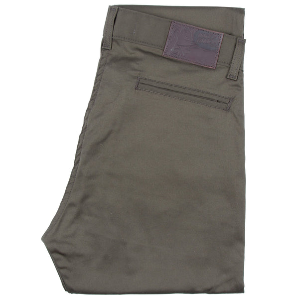 Slim Chino - Khaki Green Stretch Twill Media 1 of 4