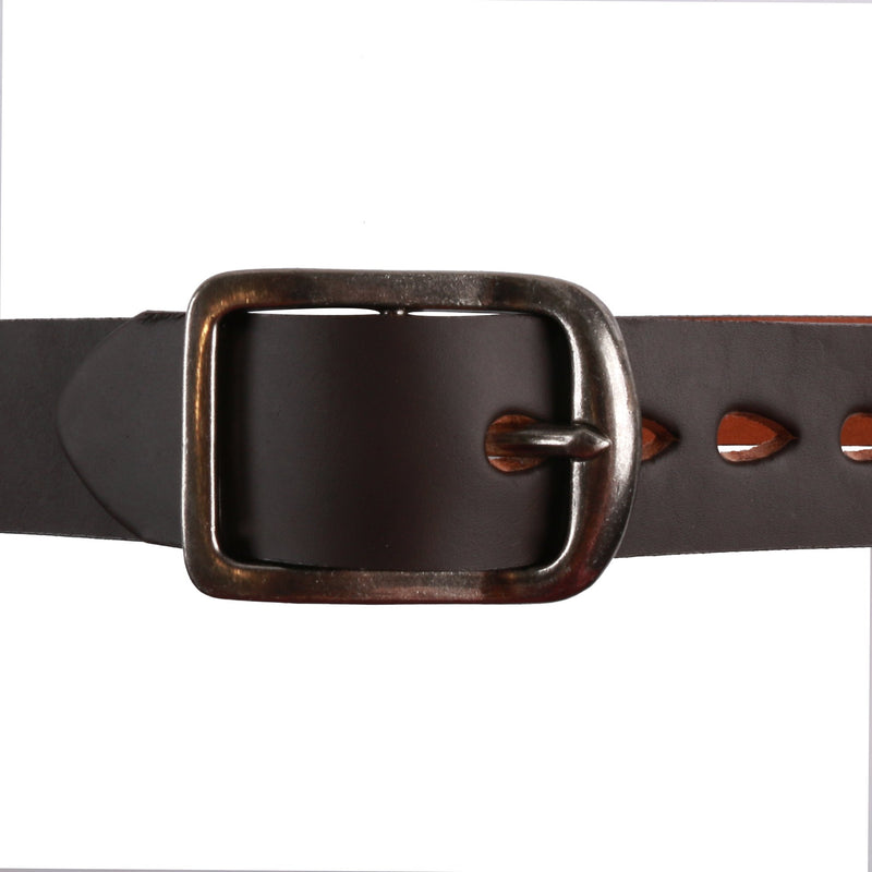 Thick Belt - 7mm Bovine Leather - Brown Media 2 of 2