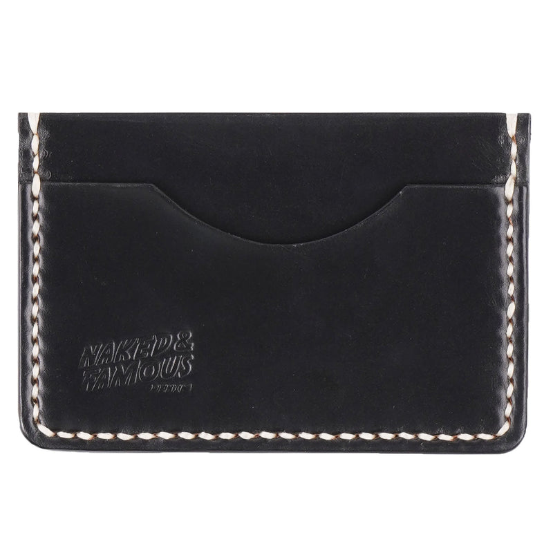 Card Case - Cordovan Leather - Ebony - front