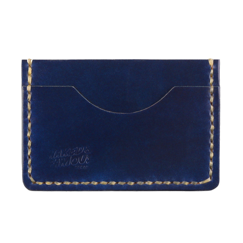 Shell Cordovan Leather Card Case - Indigo | Naked & Famous Denim