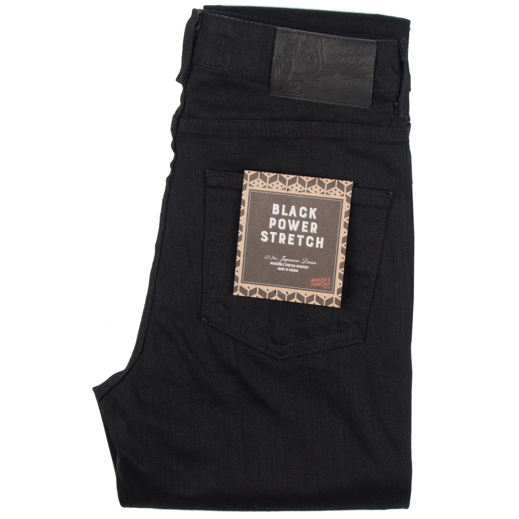 Womens - The Crop Skinny - Black Power Stretch