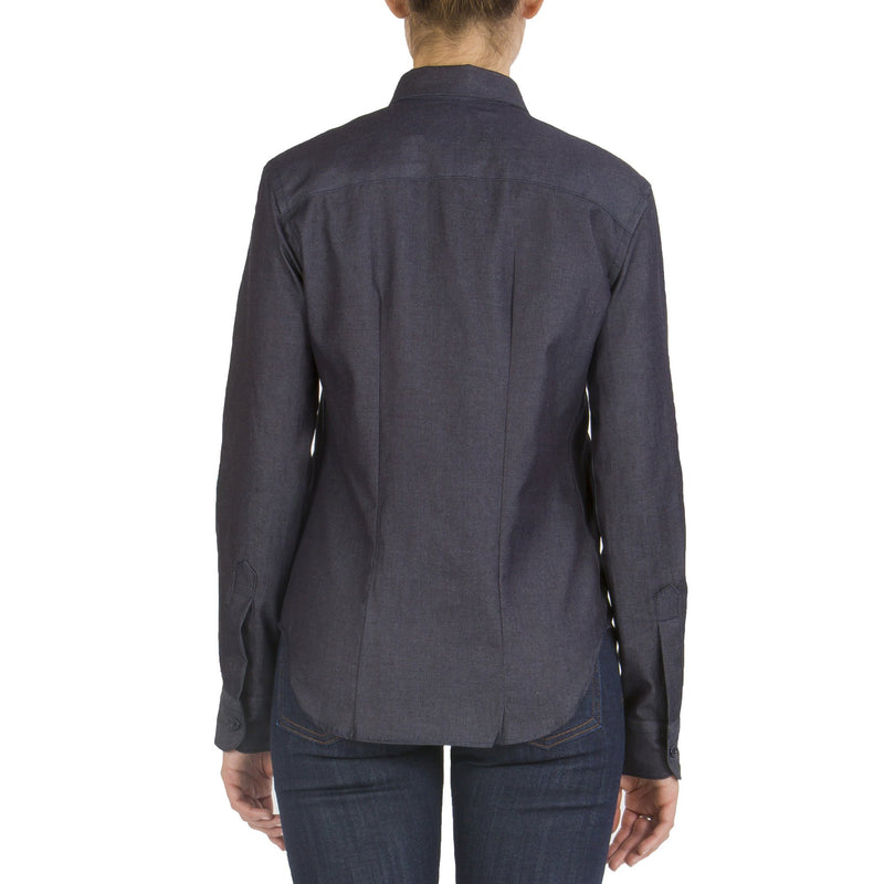Women's - Long Sleeve Shirt - 5oz Indigo Denim