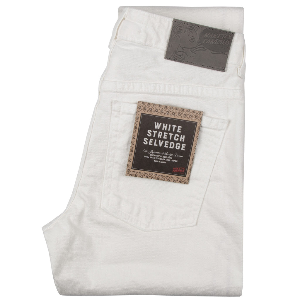 Women's - Boyfriend - White Stretch Selvedge