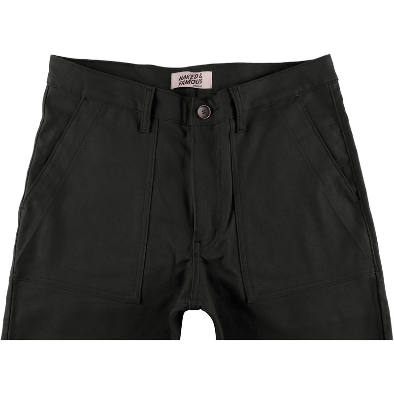 Work Pant - Black Canvas - front