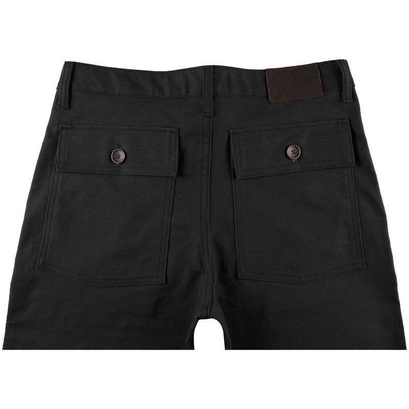 Work Pant - Black Canvas - back