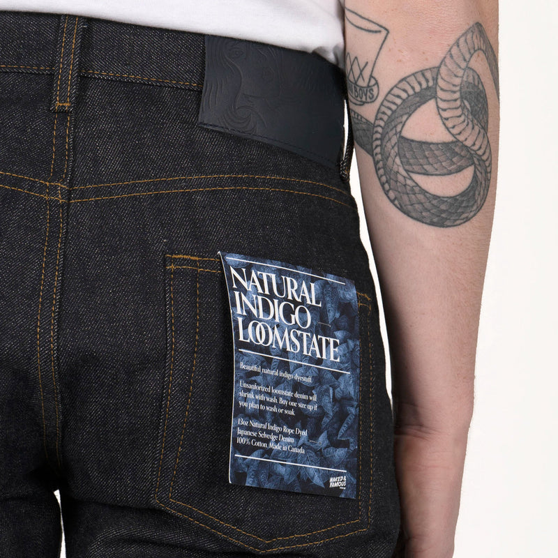 Easy Guy - Natural Indigo Loomstate Slevedge