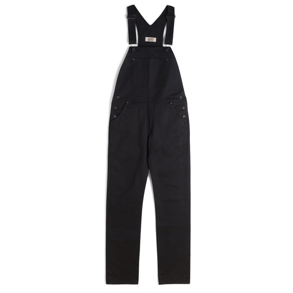 Weird Guy Overalls - Black Solid Selvedge