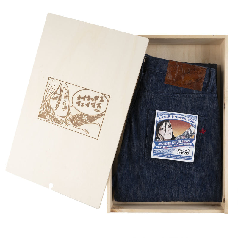 Super Guy - MIJ8 - Tokushima Natural Indigo Hand Dyed Intangible Cultural Treasure Selvedge Denim