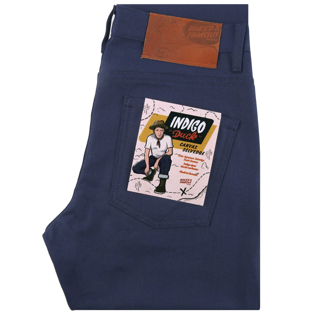 Super Guy - Indigo Duck Canvas Selvedge | Naked & Famous Denim