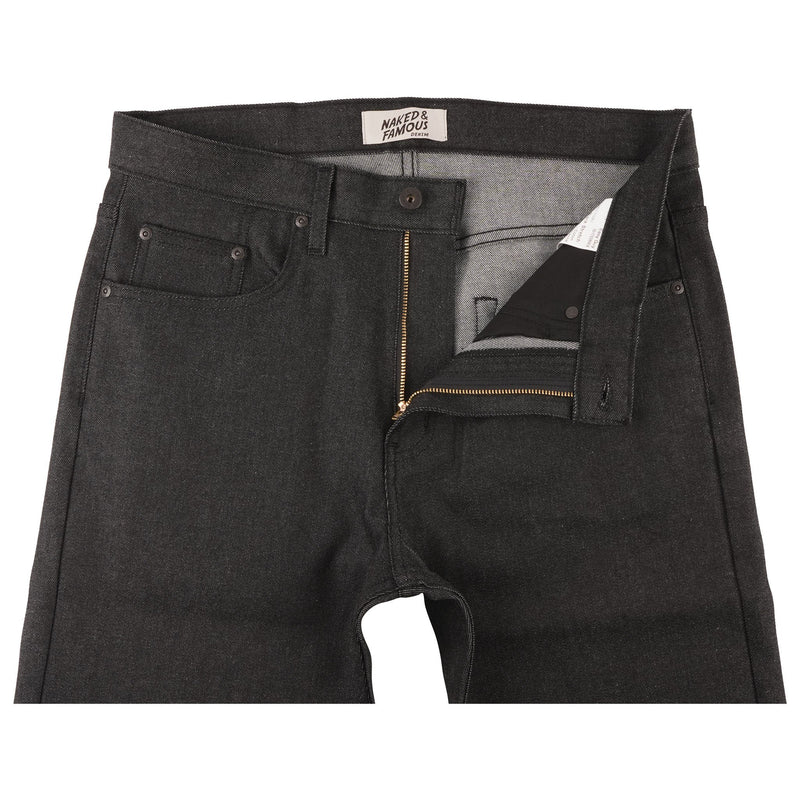 Easy Guy - Ash Black Stretch Denim - front
