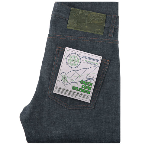 Super Guy - Green Core Selvedge | Naked & Famous Denim