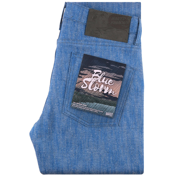 Super Guy - Blue Storm Slub | Naked & Famous Denim