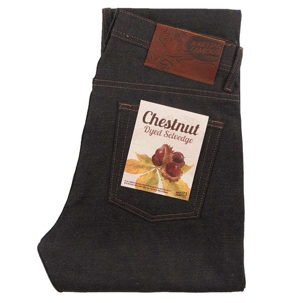 Weird Guy - Chestnut Dyed Selvedge - folded