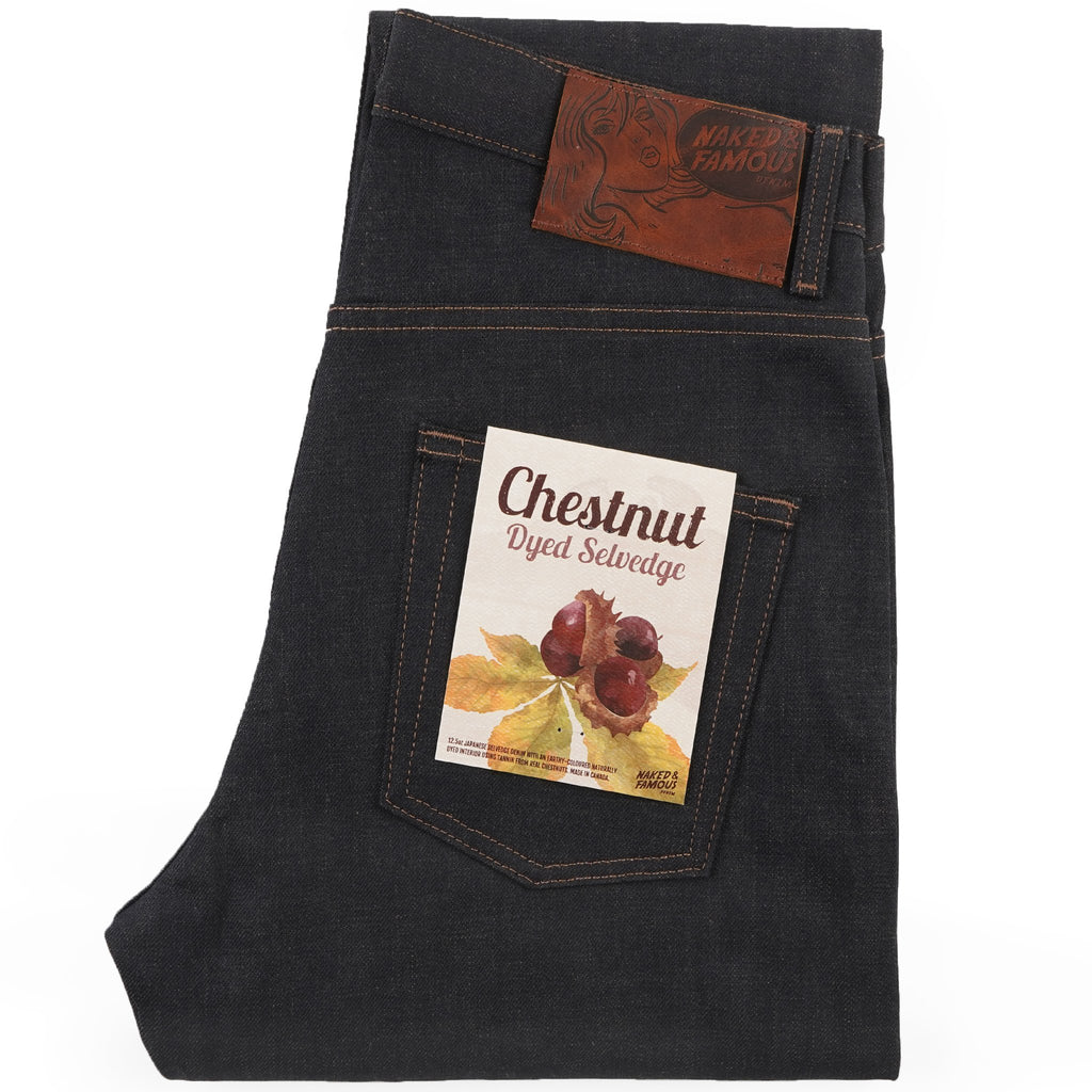 Easy Guy - Chestnut Dyed Selvedge - folded