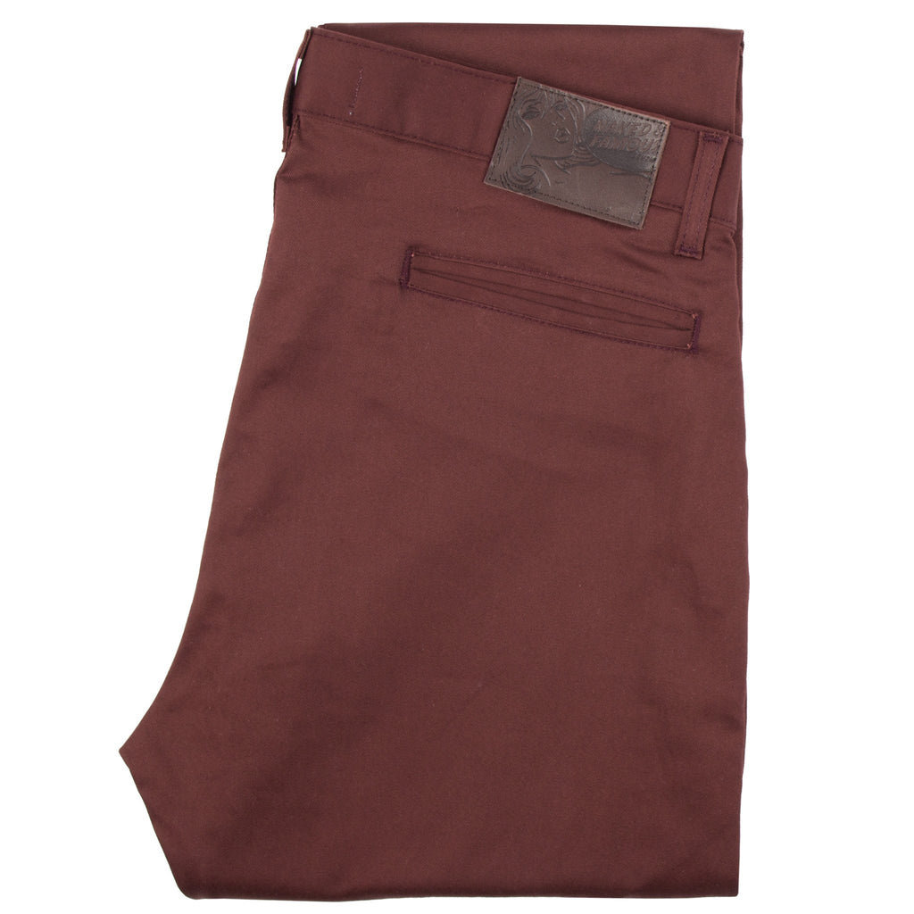 Slim Chino – Burgundy Stretch Twill