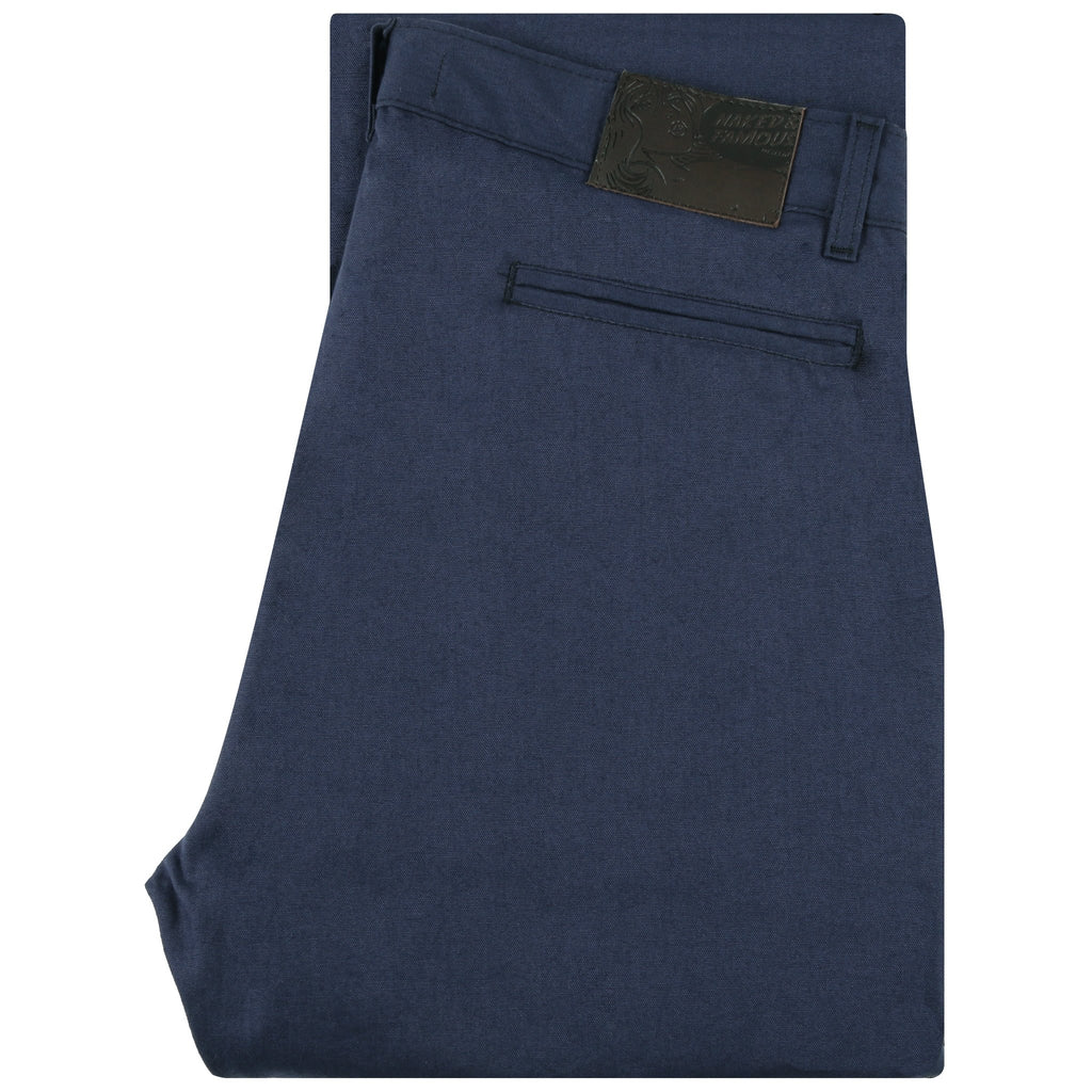 Straight Chino - Navy Rinsed Oxford