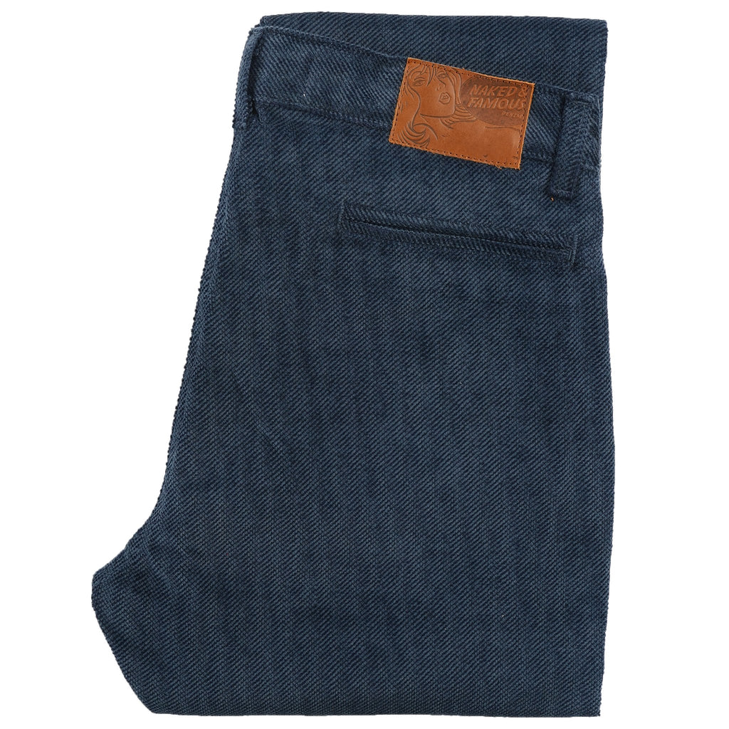 Tapered Chino - Heavy Velvet Twill - Blue