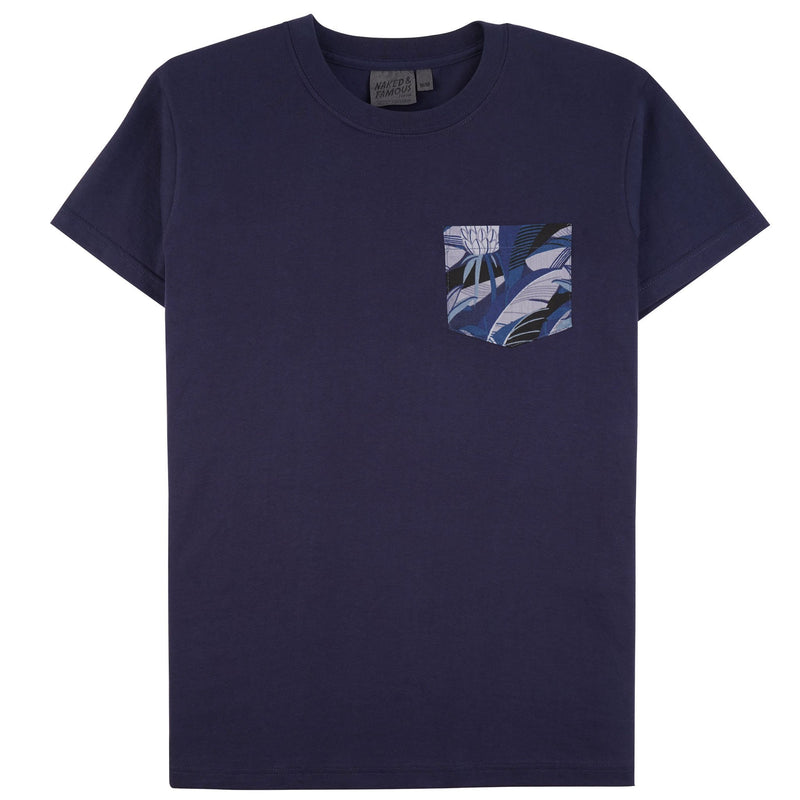 Pocket Tee - Navy - Jungle Vacation Blue - front